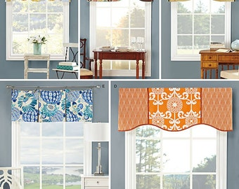 "Simplicity Pattern 1078 Valances for 39 1/2"" Wide Windows"