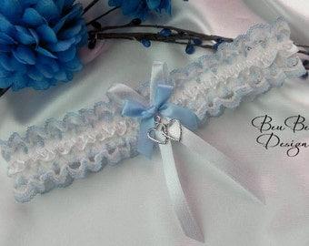 Something blue wedding garter, blue bridal garter, lace garter, wedding lingerie, blue lace garter, blue garter