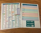 DASHBOARD -- Grocery List/Shopping & Menu Planner Dashboard for Erin Condren OR Happy Planner (double sided)