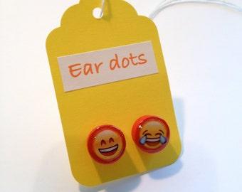 Cute Stud Earrings - Red-Stud Earrings - Fun Emoji Earrings