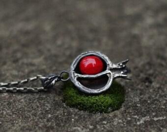 "Silver handmade pendant ""Pomegranate """