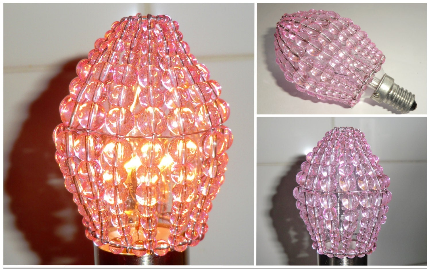 Crystal Chandelier Inspired Glass Lightbulb Candle Bulb ...