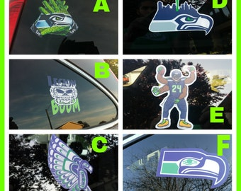 New! Seattle Seahawks Vinyl Decal Stickers 23 Limited Edition Styles Best Sellers Free Shipping! Ships out Same or Next Bustiness Day!