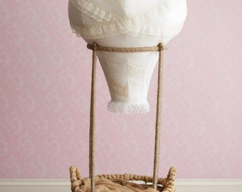 Hot Air Balloon Photography Prop, Baby,  Vintage Lace, Travel Theme, Fly, Soar, Clouds, Birdseyeblue, Birdseye Blue, Nursery