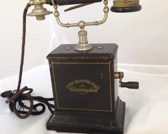 Antique Telephone - Danish Fyns Kommunale Telefonselska