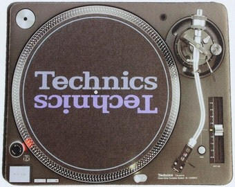 Custom Printed Technics SL-1210 MK2 Turntable Deck Mouse pad mouse mat computer mouse pad mousepad Computer DJ Gift