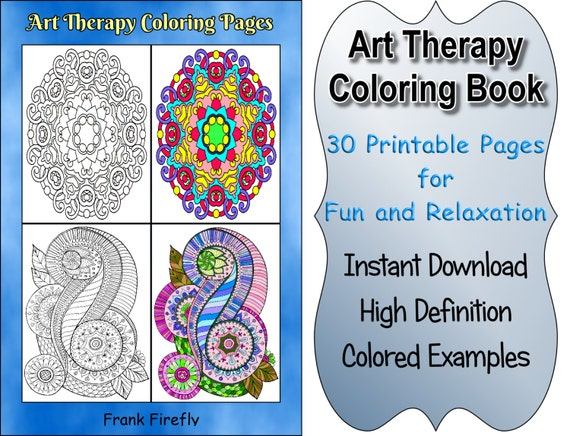 Art Therapy Coloring Book 30 Printable By Coloringbookspages