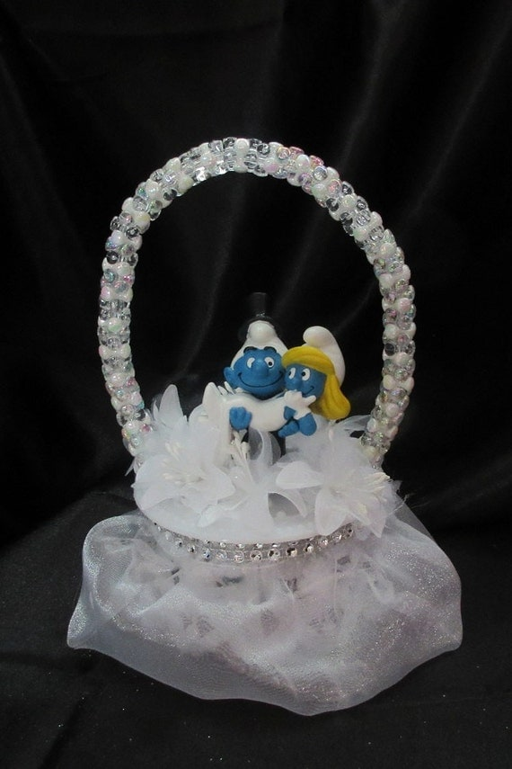 wedding cake toppers etsy smurf wedding cake topper 26456