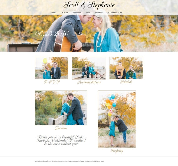 Wedding Website Design - Includes hosting and three digital templates of your choosing!