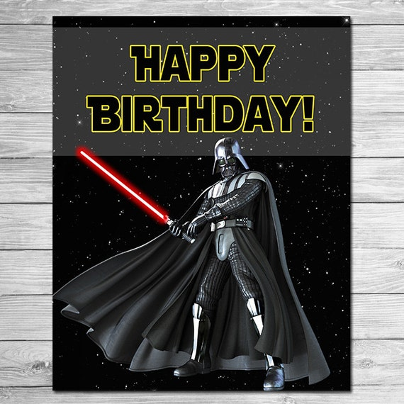 star wars happy birthday sign darth vadar star wars birthday. Black Bedroom Furniture Sets. Home Design Ideas
