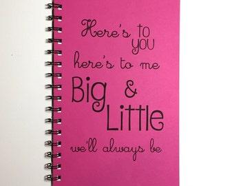 Big and Little Sorority, Notebook, Sorority Gift, Big Little, Journal, gift, Diary, Sketchbook, Big Little Gift, SororitySister, Greek
