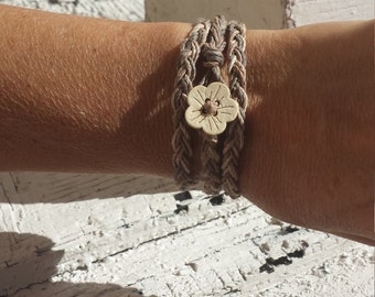 Natural Hemp Wrap Bracelet Anklet