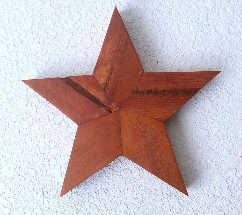 Wooden Star Rustic Star Wall Decor Solid Star 10 By
