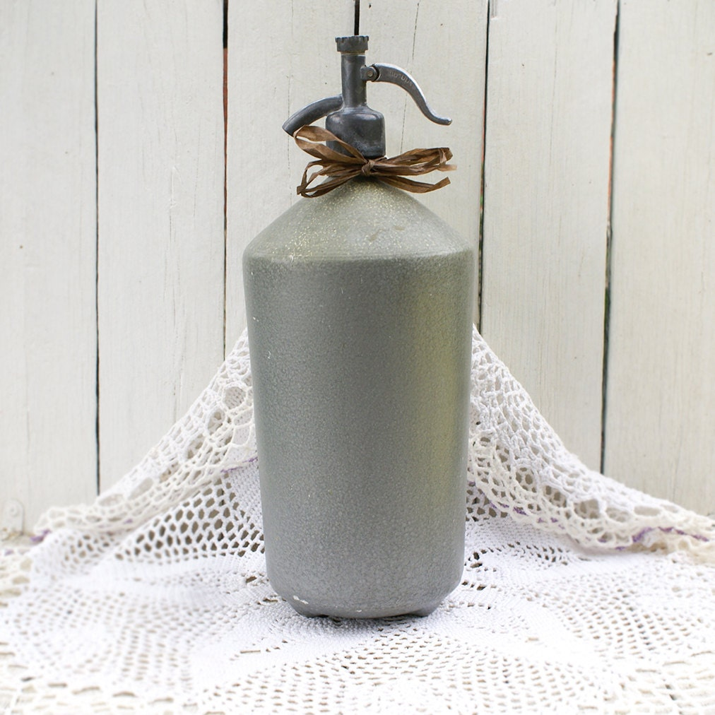 Spring Sale Vintage Soviet Metal Soda Water Syphon Made In Ussr Primitive Rustic Farmhouse
