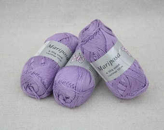 3 Cotton yarn lillac handicraft  crocheting  knitting supplies cotton yarn crochet yarn soft yarn craft supplies crochetting supplies