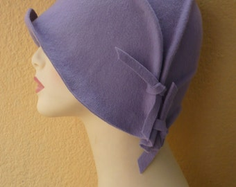 NEW!!! Cloche hat, 20s hat, 20s style hat, Felt hat, Wool hat, Vintage hat, Retro hat, Winter hat, By size hat, handmade hat