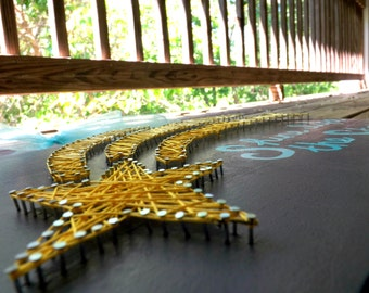nursery string art, string art, star string art, nursery wall art