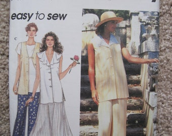 UNCUT Misses Top, Pants and Skirt - Size 4 to 8 - Simplicity Sewing Pattern 8908 - Vintage 1994