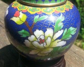 Zi Jin Cheng Cloisonne Ginger Jar