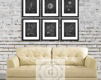 Golf Home Decor, Golf art prints golf wall Decor set of 6 prints, Golf Decor ideas, golf  Gift for Dad, Golf gift for men, golf decoration
