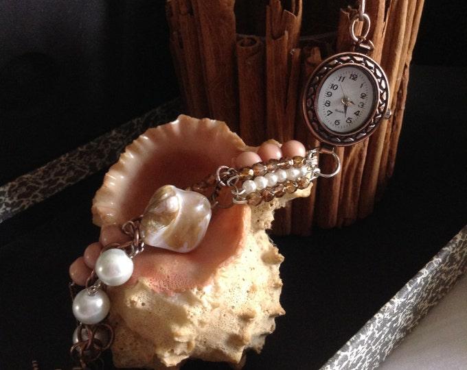 BoHo Pearly Pink Watch