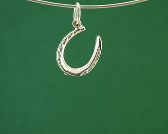 Horseshoe Pendant or charm in solid Silver, a lovely gift and a symbol of good luck
