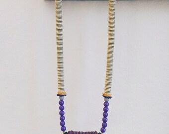 Button Snake Collar Necklace