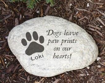 Engraved Dog Memorial Garden Stone