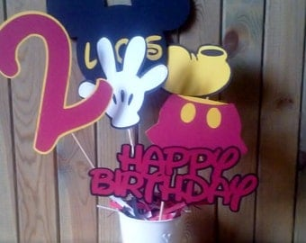 Mickey Mouse Centerpiece - personalized - party supplies - decorations