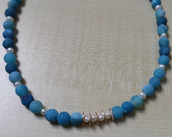 Turquoise crash agate necklace