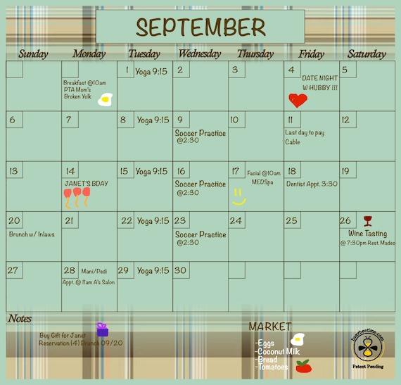 Blank Magnetic Calendar Refrigerator : Planner dry erase calendar magnetic refrigerator