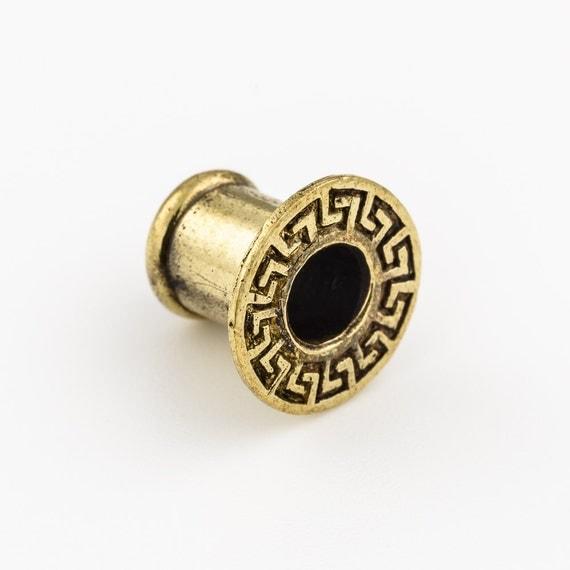 Brass ear tunnel 8mm- 0g. ear tunnels. tribal plugs. tribal tunnels. brass tunnels. plugs and tunnels. ear gauges. plugs. p6