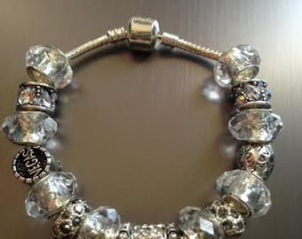 Glam in Las Vegas European Charm Bracelet with Crystal Charms