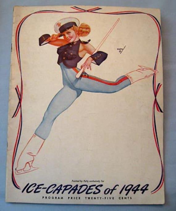 George Petty Pin Up Girls: Ice Capades 1944 Program George Petty Pin-Up Cover Ice