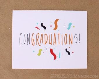 "Fun Graduation Card ""Congraduations!"", A2 greeting card"