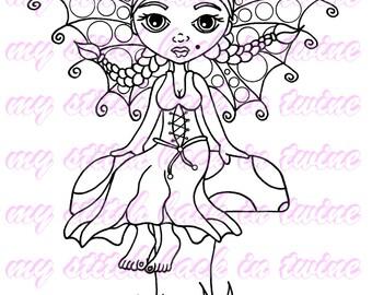 Digital stamp colouring image - Fairy Darcee . jpeg / png