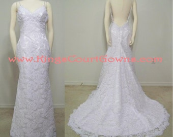 Replica Backless Lace Trumpet Wedding Dress Gown Chapel Train