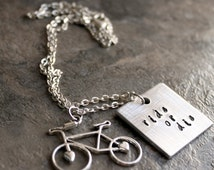 Popular items for enjoy the ride on etsy for Ride or die jewelry