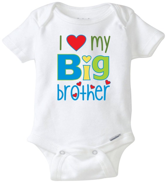 Baby Gifts For Big Brother : I love my big brother newborn onesie baby shower gift