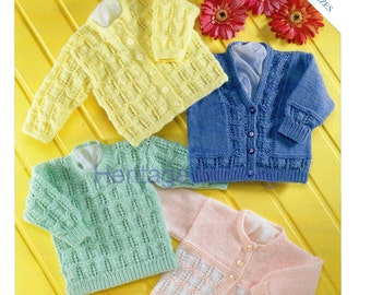 baby cardigan and sweaters dk knitting pattern 99p pdf