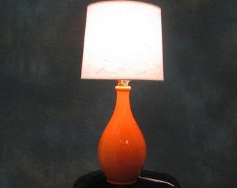 Orange Bedside Table Lamp