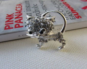 Cat Brooch, Cat Jewellery, Animal Brooch