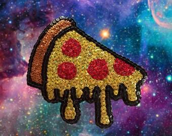 Pizza Slice Sequin Patch