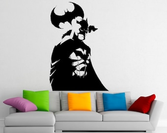 Batman wall mural etsy for Batman wall mural decal