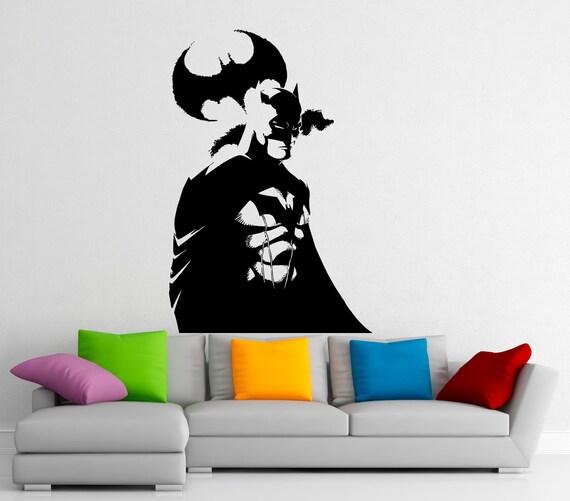 batman superhero wall decal vinyl stickers comics hero home