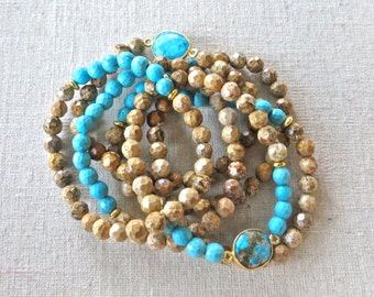 Jasper and Turquoise Bracelets