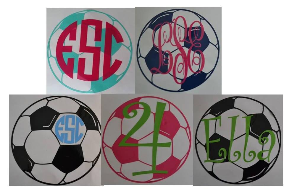Soccer Ball Vinyl Decal Sticker Water Bottle Decal Laptop