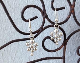 Silver Ball Chandelier Earrings