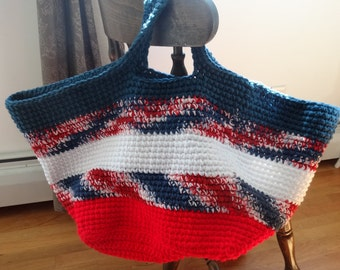 CLEARANCE___Large Patriotic Beach Bag