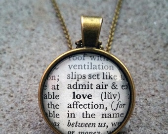 """Word Pendant and Chain """"Love"""""""